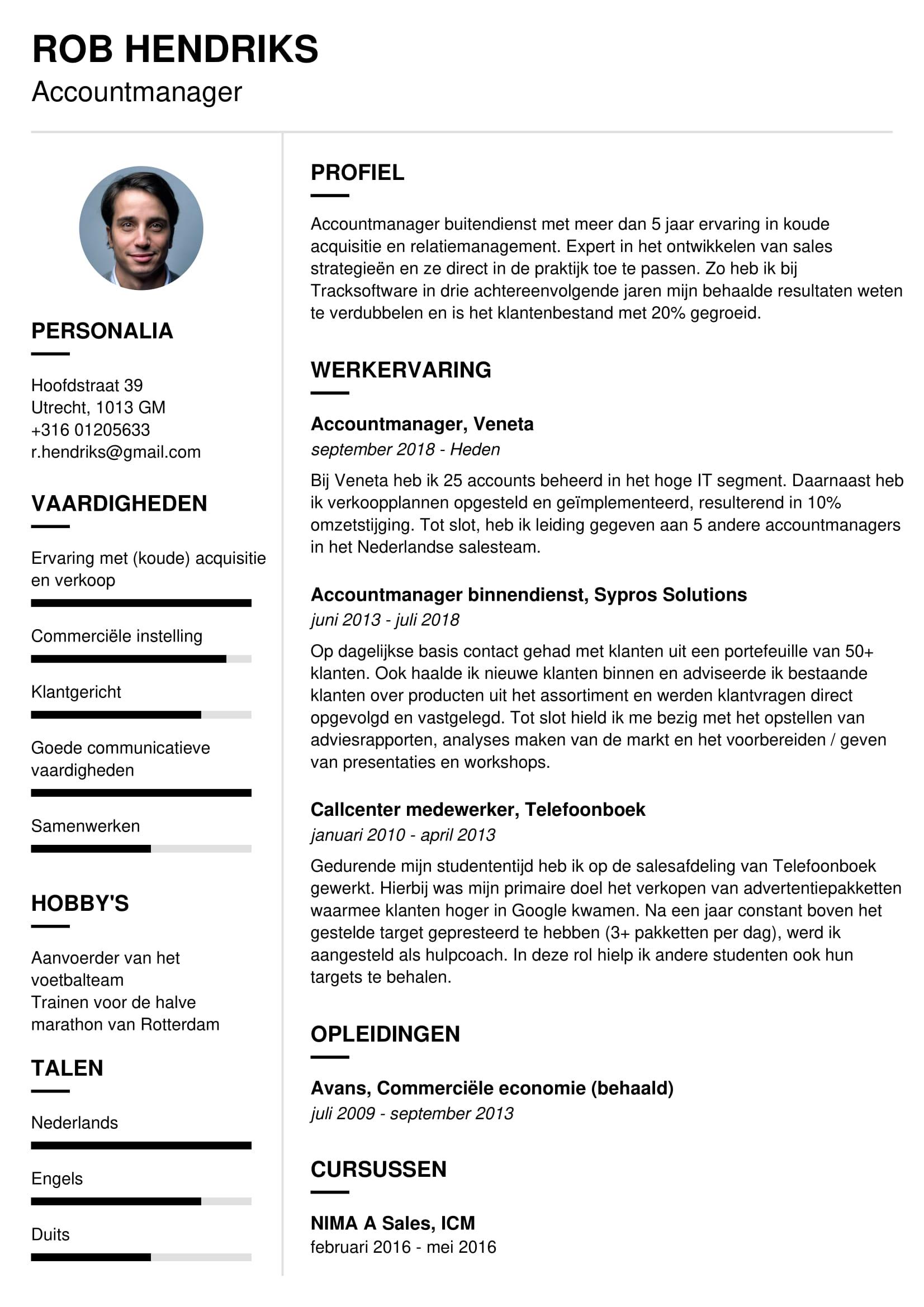 accountmanager cv