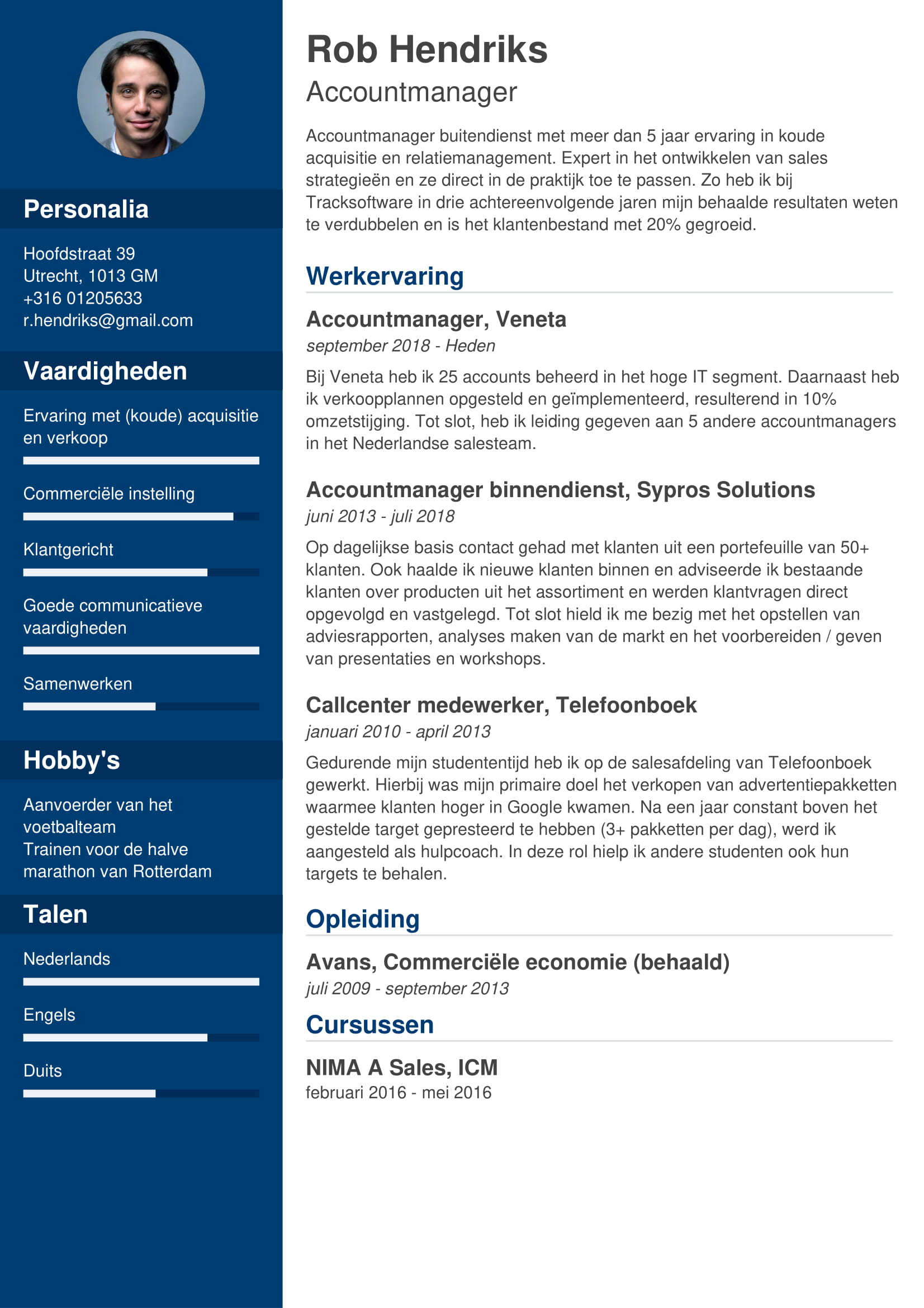 cv accountmanager