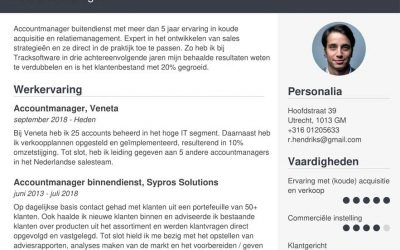 Voorbeeld CV Accountmanager | [+7 Tips & Gratis Download]