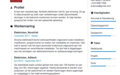 Voorbeeld CV elektricien | [Gratis Download, +5 Tips]